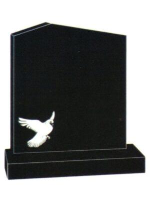 granite headstone  black done