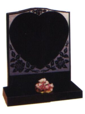 granite headstone black