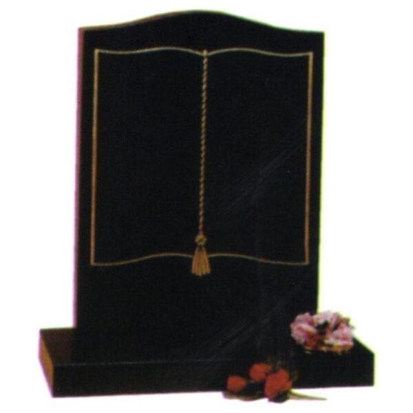 granite headstone black