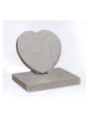beige heart headstone