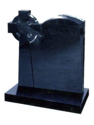 black headstone and crosses