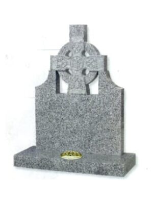 grey headstone with cross