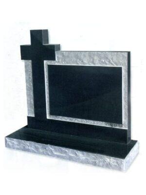 black cross by headstone