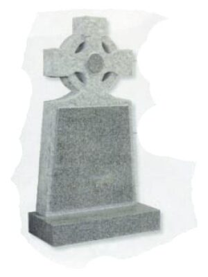 grey headstone cross on top