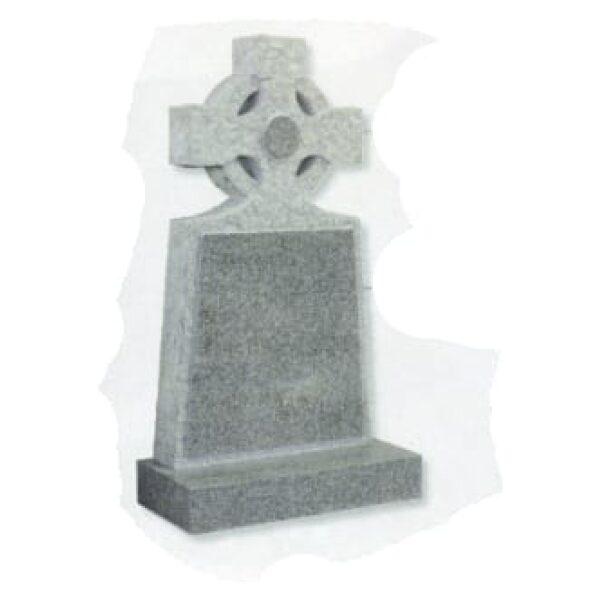 grey headstone cross on top
