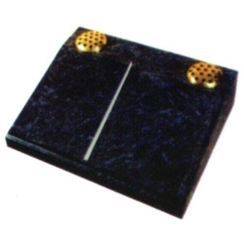 black cremation stone