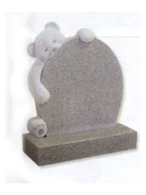 headstone with bear