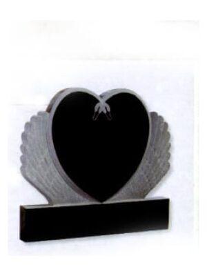 black heart headstone