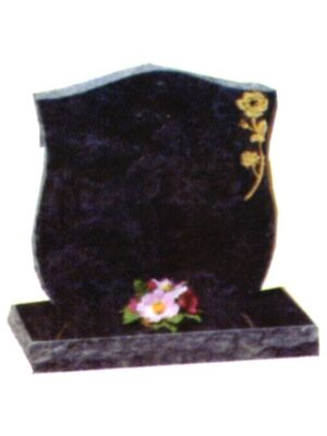 black cremation gravestone