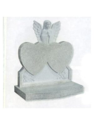 two hearts headstone