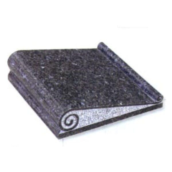 Book grave stone